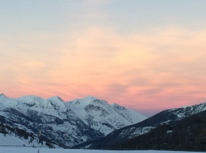 sunset sestriere